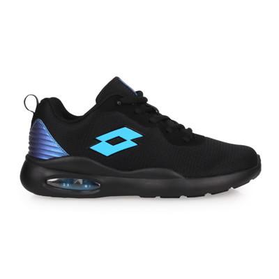 LOTTO 男大童輕氣墊跑鞋-避震 反光 輕量 慢跑 運動 黑藍 (9折)