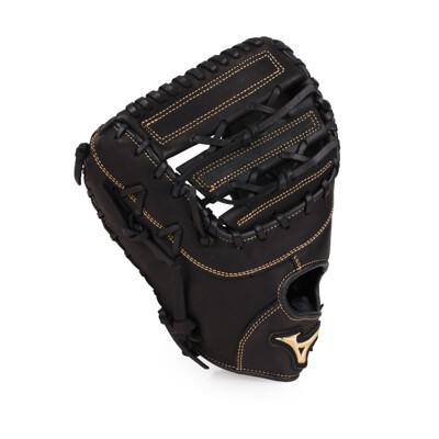MIZUNO 硬式棒球手套-一壘手用 左投 附手套袋  美津濃 黑淺金 (8.4折)
