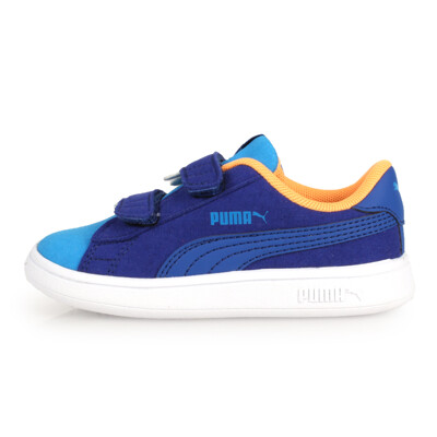 PUMA SMASH V2 MONSTER V LNF 男童怪獸休閒鞋-童鞋 藍白橘 (6.4折)