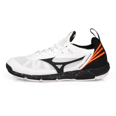 MIZUNO WAVE LUMINOUS 男排球鞋-訓練 排球 美津濃 白黑橘 (8.4折)