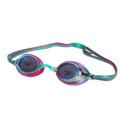 SPEEDO 兒童競技泳鏡-抗UV 防霧 蛙鏡 游泳 戲水 訓練 桃紅綠 (9.4折)