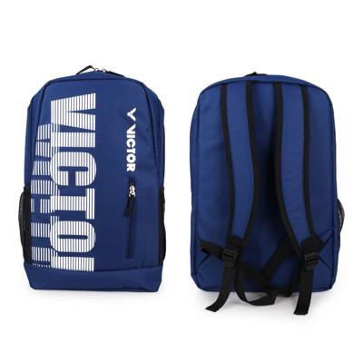 VICTOR 後背包-雙肩包 裝備袋 羽球 勝利 深藍白 (7.6折)