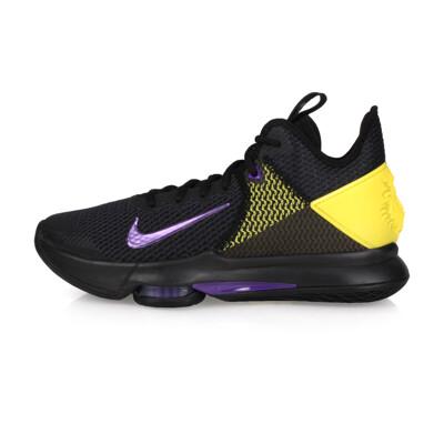 NIKE LEBRON WITNESS IV EP 限量-男籃球鞋-高筒 黑紫黃 (9.4折)