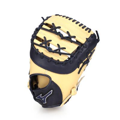 MIZUNO 硬式一壘手手套-右投  棒球 壘球 美津濃 淺卡其丈青 (8.4折)