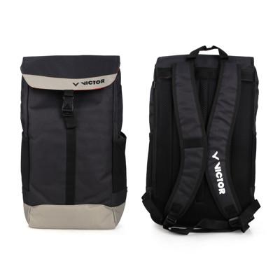 VICTOR 大型後背包-雙肩包 裝備袋 羽球 勝利 黑灰 (7.2折)
