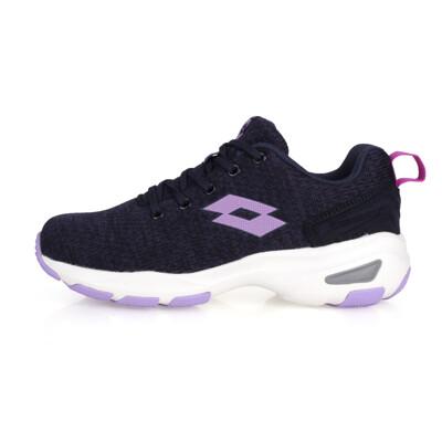 LOTTO 女增高美型 健走鞋-增高鞋 健步鞋 走路鞋 健行 丈青紫 (8折)