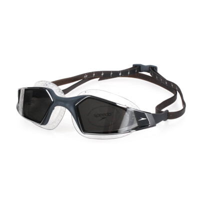SPEEDO AQUAPULSE PRO 鏡面 成人運動泳鏡-競技 訓練 游泳 蛙鏡 深灰銀 (8.9折)