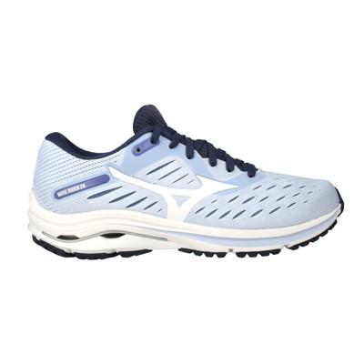MIZUNO WAVE RIDER 24 女慢跑鞋-3E WIDE-寬楦 美津濃 粉紫白丈青 (8.4折)