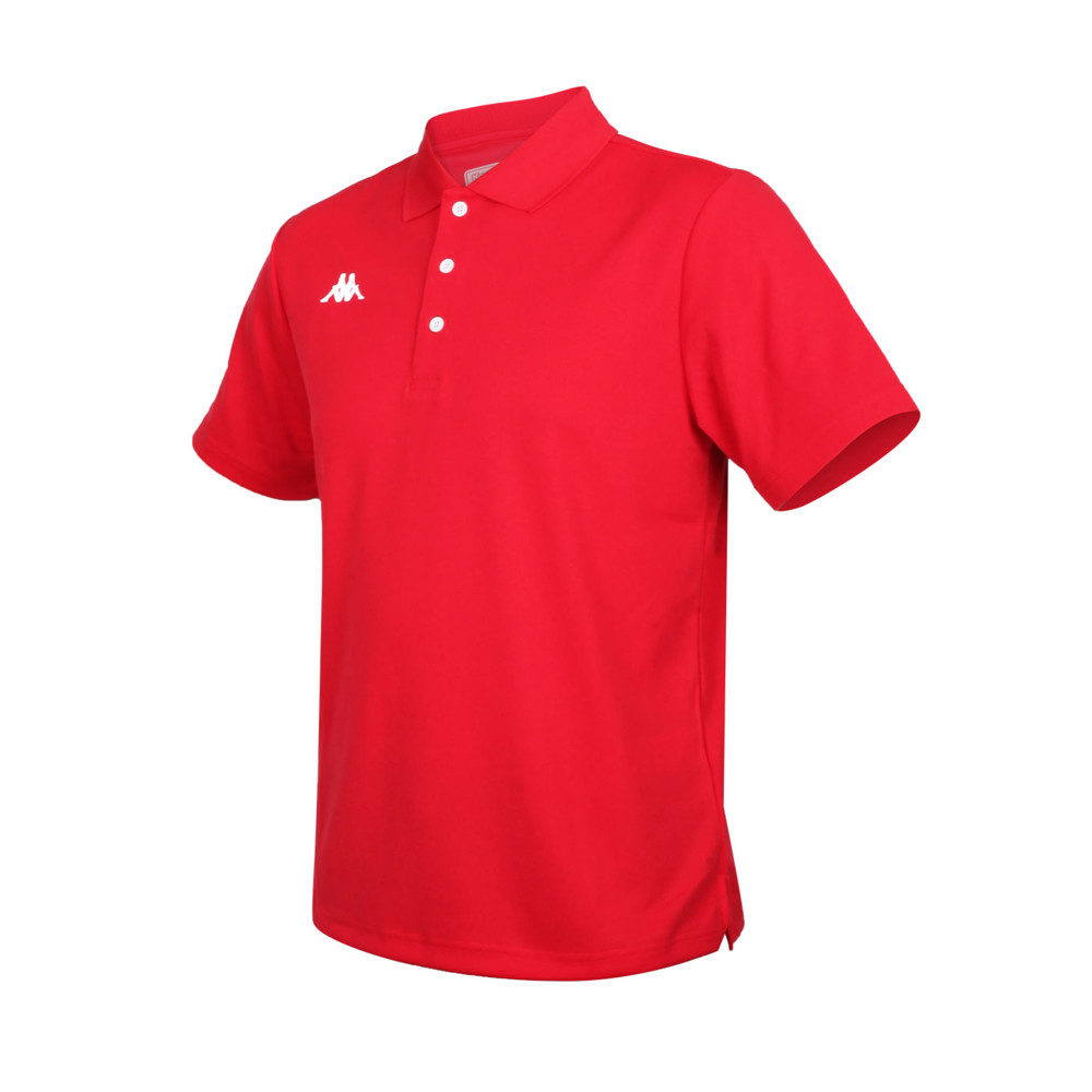 kappa 男k4t短袖polo衫-台灣製 慢跑 高爾夫 網球 吸濕排汗 上衣 紅白
