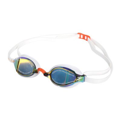SPEEDO 成人競技泳鏡-抗UV 防霧 蛙鏡 游泳 戲水 訓練 日製 白橘 (8.8折)