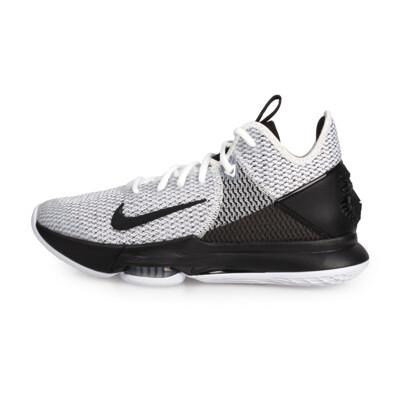 NIKE LEBRON WITNESS IV EP 限量-男籃球鞋-高筒 避震 黑白 (9.4折)