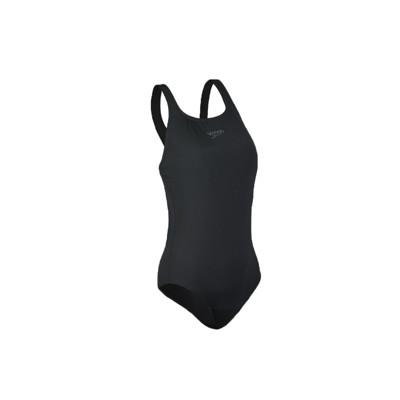 SPEEDO 女運動連身泳裝-泳衣 游泳 海邊 戲水 沙灘 黑 (8.8折)