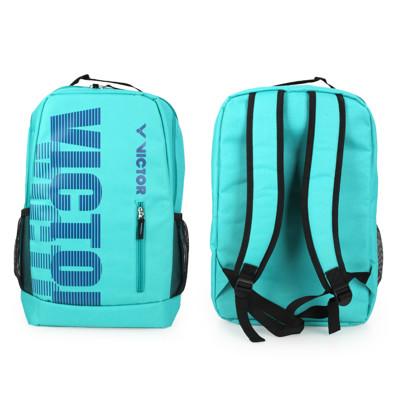 VICTOR 後背包-雙肩包 裝備袋 羽球 勝利 湖水綠藍 (7.6折)