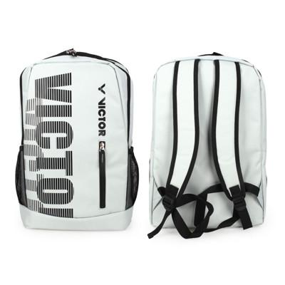 VICTOR 後背包-雙肩包 裝備袋 羽球 勝利 淺灰黑 (7.6折)