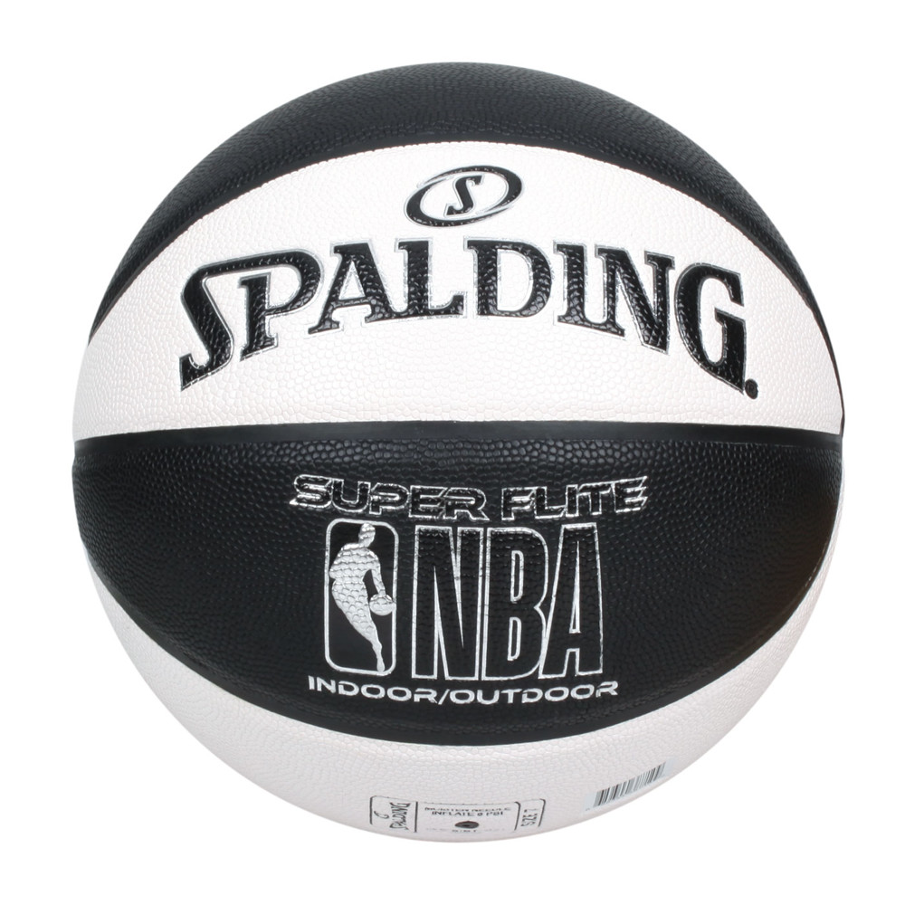 spalding nba super flite系列#7號合成皮籃球-7號球 斯伯丁 白黑