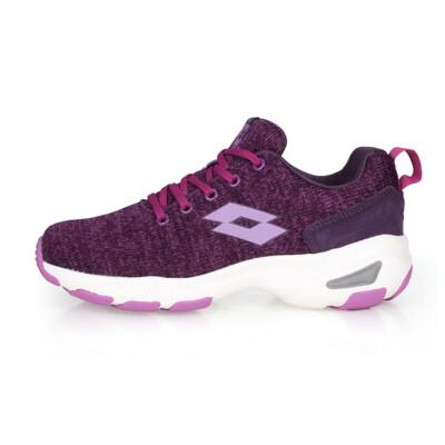 LOTTO 女增高美型 健走鞋-增高鞋 健步鞋 走路鞋 健行 麻花紫 (8折)