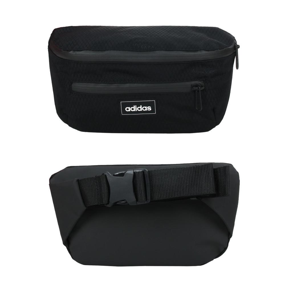 adidas 小型腰包-腰包 臀包 側背包 斜背包 慢跑 單車 自行車 愛迪達 黑白