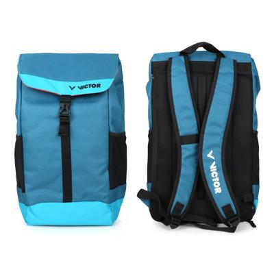 VICTOR 大型後背包-雙肩包 裝備袋 羽球 勝利 墨藍黑 (7.2折)