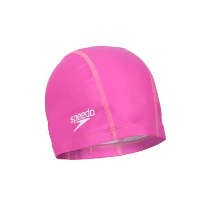 SPEEDO PACE 成人合成泳帽-游泳 戲水 海邊 沙灘 深粉紅 (10折)