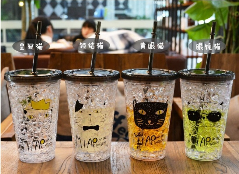 萱萱小舖夏日碎冰杯冰水杯冰酷杯随手杯吸管杯子