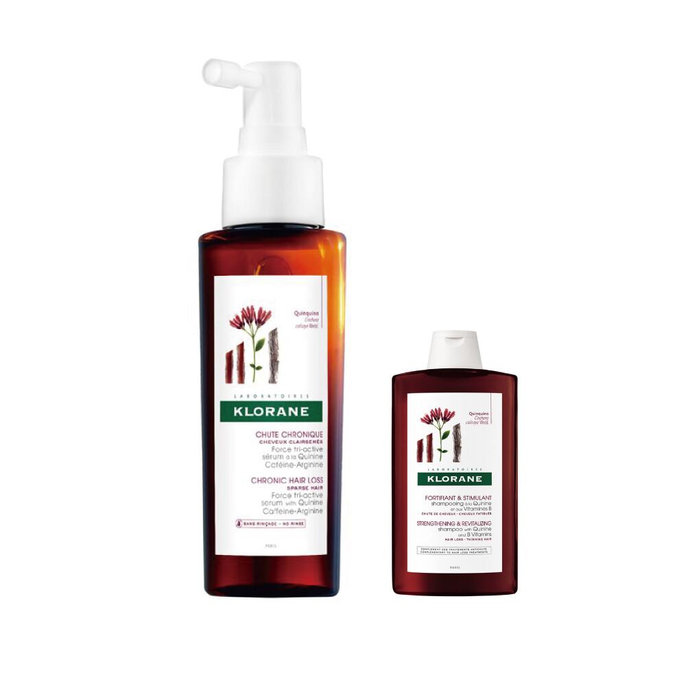 klorane 蔻蘿蘭 三效養髮精華液100ml(三效養髮精華液125ml+養髮洗髮精100ml)