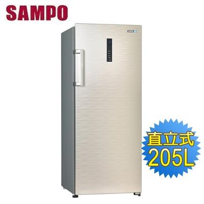 【送拆箱定位】SAMPO聲寶 205公升直立式冷凍櫃SRF-210F (7.3折)
