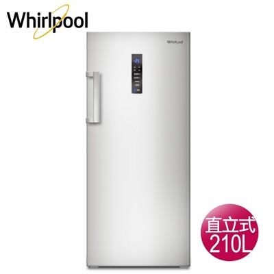 送基本安裝whirlpool惠而浦 210公升直立式冷凍櫃-鈦金鋼wifs08g (8.8折)