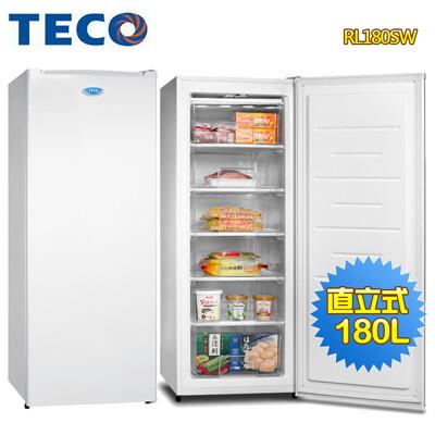 【基本運送】TECO 東元 180L窄身美型直立式冷凍櫃RL180SW (6.8折)