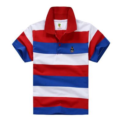 兒童橫條紋活力短袖POLO衫 (2.5折)