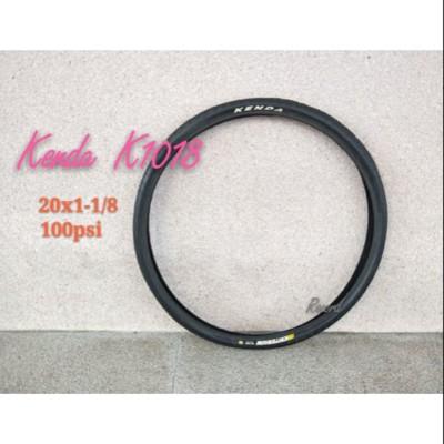 紀錄單車 Kenda 20x1-1/8 K1018 100Psi 不可折外胎 (10折)
