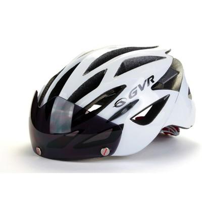 紀錄單車 GVR G509V 素色系列 磁吸式安全帽 附鏡片 - 亮白 (10折)