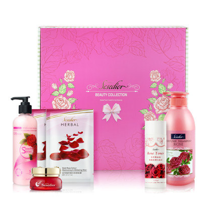 【Sesedior】玫瑰美白寵愛禮盒(5件組) 面膜/化妝水/精華霜/洗護髮乳 (7.1折)