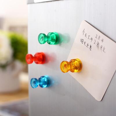 得力 強力磁鐵 磁釘7821 彩色磁鐵 強磁 玻璃 白板 用磁吸 黑板白板 (7折)