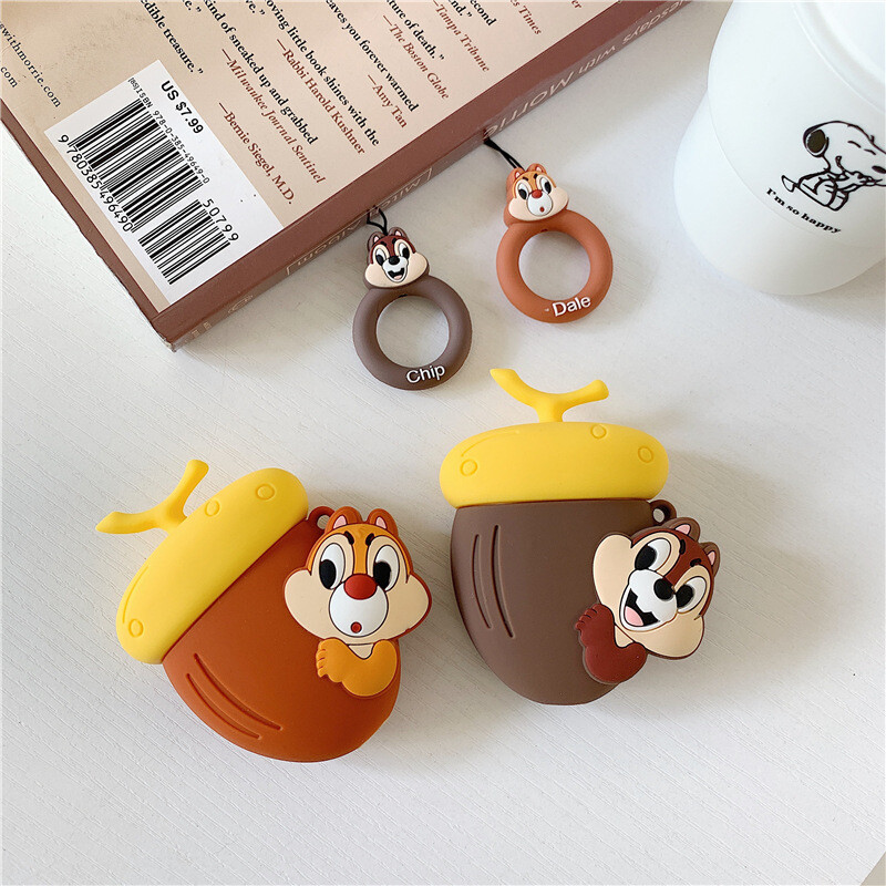 ins 松鼠造型 airpods保護套 矽膠 蘋果耳機套 適用1/2代 可愛日韓系列