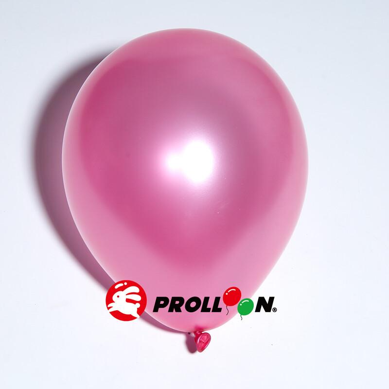 大倫氣球5吋珍珠色圓形氣球 100顆裝 深粉紅 台灣製造 安全無毒