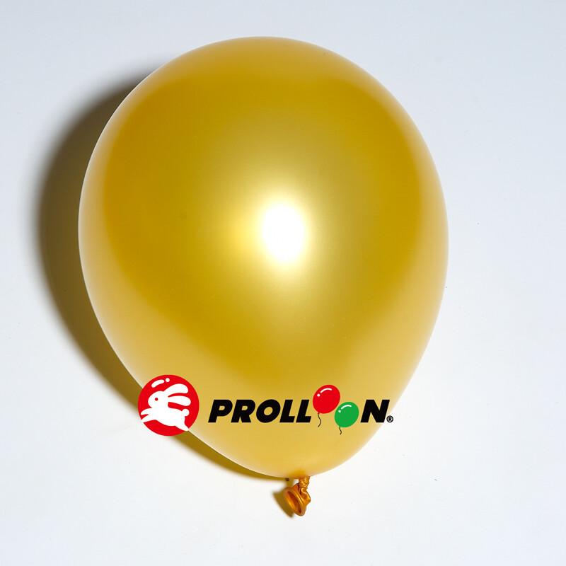 大倫氣球5吋珍珠色圓形氣球 100顆裝 金色 台灣製造 安全無毒