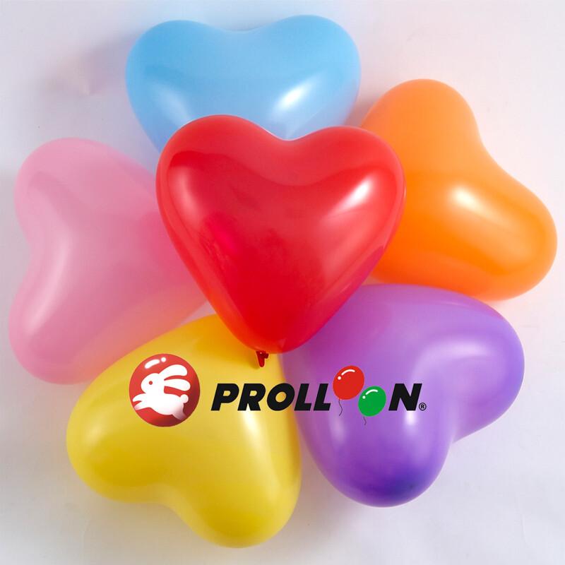 大倫氣球 12吋糖果色 心形氣球 100顆裝 隨機混色 台灣製造 安全無毒