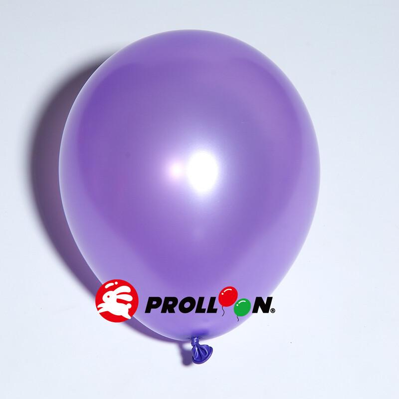 大倫氣球9吋珍珠色 圓形氣球 100顆裝 台灣製造 紫色 安全無毒