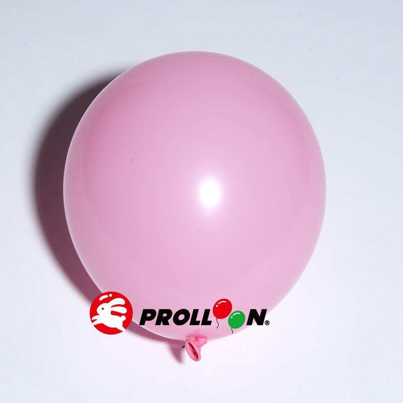 大倫氣球5吋糖果色 圓形氣球 100顆裝  粉紅色 台灣製造 安全無毒