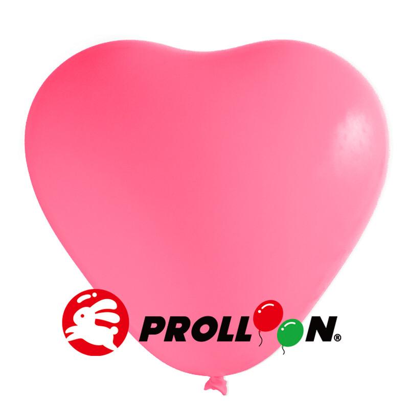 大倫氣球 12吋糖果色 心形氣球 100顆裝 玫瑰紅 台灣製造 安全無毒