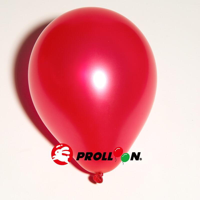 大倫氣球5吋珍珠色圓形氣球 100顆裝 紅色 台灣製造 安全無毒