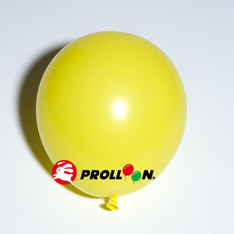 大倫氣球5吋糖果色 圓形氣球 100顆裝  黃色 台灣製造 安全無毒