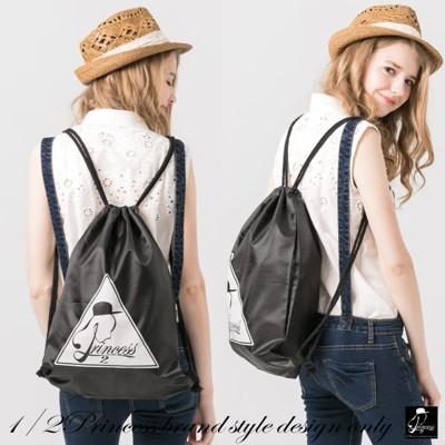 1/2princess第二代品牌標誌防潑水束口袋 後背包[SK12] (6.1折)