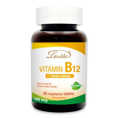 【小資屋】Lovita 愛維他 緩釋型維生素B12 1000mcg-全素 (4.5折)