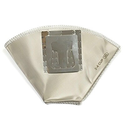 【啡茶不可】濾掛式環保濾杯(2-4cup) 可重複使用的濾紙扇形304不鏽鋼掛耳咖啡濾杯。 (6.4折)