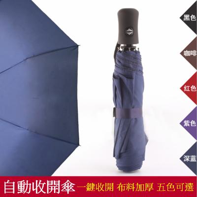 一鍵自動收開 雨傘 三折傘 不透光防曬 遮陽傘 自動傘 (3.2折)