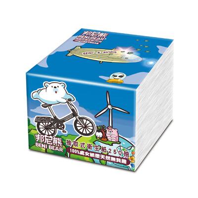 benibear邦尼熊抽取式衛生紙250抽x30包/箱(腳踏車版) (7.4折)