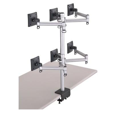 FOGIM 夾桌懸臂式液晶螢幕支架(六螢幕)-終身保固-TKLA-6036-S (9.2折)