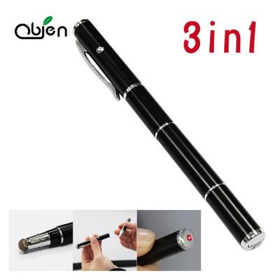 【OUI「為」精品】OBIEN 高感度多功能三用觸控筆 三合一觸控筆 / 電容式觸控筆 / 雷射筆 (7.5折)