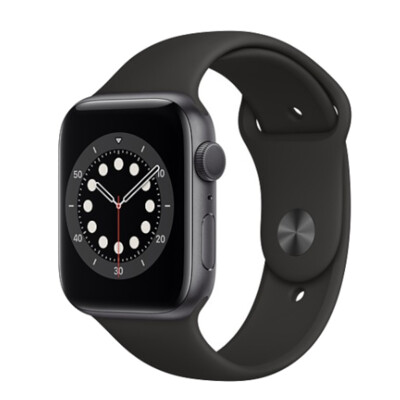 Apple Watch Series 6 GPS+LTE版 44mm 太空灰鋁金屬錶殼配黑色運動錶帶 (8.5折)